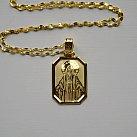 Medalik pozłacany ozdobny Matka Boska Niepokalana