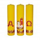 Komplet świec ołtarzowych z wzorem Wielkanocnym