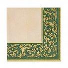 Serwetka klasyczna zielono-złoty wzór