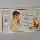Pamiątka z okazji Pierwszej Komunii Świętej (chłopiec) kryształek