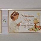 Pamiątka z okazji Pierwszej Komunii Świętej (dziewczynka) kryształek