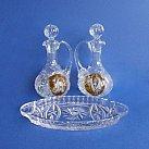 Ampułki kryształowe z tacką