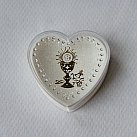 Pudełko na różaniec komunijne serce