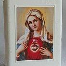 Pudełko na różaniec Serce Maryi