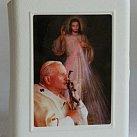 Pudełko na różaniec Jan Paweł II