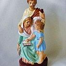 Św. Rodzina gipsowa kolorowa 17cm
