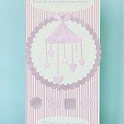 Karnet na Narodziny Dziecka dla dziewczynki Witaj na świecie