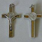 Krzyż św. Benedykta jasny brąz_1 5 cm