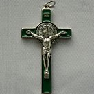 Krzyż św. Benedykta 7 cm zielony