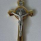 Krzyż św. Benedykta metalowy złoty