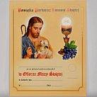 Obrazek do Pierwszej Komunii Świętej  Dobry Pasterz wzór 61