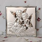 Obrazek Srebrny Aniołki Nad Dzieckiem