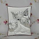 Obrazek srebrny Aniołek z Latarenką kwadrat