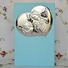 Obrazek srebrny ANIOŁEK Z LATARENKĄ niebieski