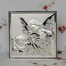 Obrazek srebrny ANIOŁ STRÓŻ Z LATARENKĄ 18x18