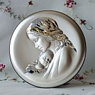 Obrazek srebrny MATKA BOSKA Z DZIECIĄTKIEM 8cm