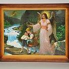 Obrazek Anioł Stróż  z dziećmi