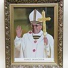 Obraz Ojciec Święty Franciszek w ozdobnej ramie