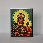 Obrazek z ikoną Matki Boskiej Częstochowskiej