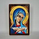 Ikona Maryi Oblubienicy Ducha świętego ręcznie malowana