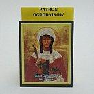 Ikona św. Dorota patronka ogrodników