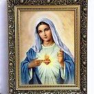 Obraz Serce Maryi 30x40 cm. ozdobna rama