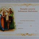 Pamiątka sakramentu małżeństwa z teczką wzór 2