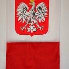 Flaga biało-czerwona z Orłem