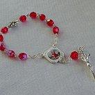 Różaniec ze św. Krzysztofem 10 czerwony
