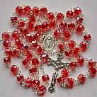 Różaniec kryształkowy czerwony