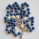 Różaniec z Matka Boską Fatimską Niebieski