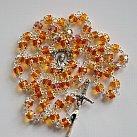 Różaniec kryształkowy pomarańczowy