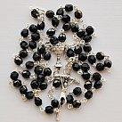 Różaniec komunijny kryształ czarny