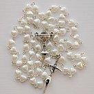 Różaniec komunijny serca perłowe