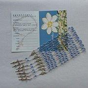 Margaretka Modlitwa za kapłanów zestaw niebieski kryształek