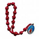 Koronka do Dzieciątka Jezus sznurek czerwona