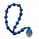 Koronka do Dzieciątka Jezus sznurek niebieska