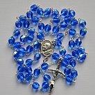 Różaniec kryształkowy niebieski 2