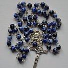 Różaniec kryształkowy kulka niebieski