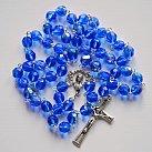 Różaniec kryształkowy niebieski duży