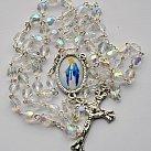 Różaniec kryształkowy z Matką Boską Niepokalaną