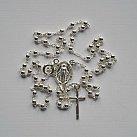 Różaniec srebrny z zapinką