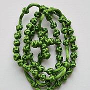 Różaniec sznurkowy zielony sznurkowy krzyżyk