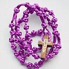 Różaniec sznurkowy fioletowy sznurkowy krzyżyk