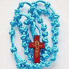 Różaniec sznurkowy niebieski sznurkowy krzyżyk
