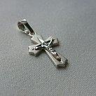 Krzyżyk srebrny diamentowany wzór 3