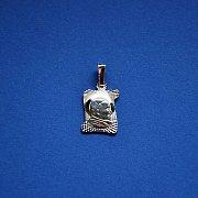 Medalik srebrny diamentowany za Świętym Janem Pawłem II