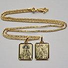 Medalik pozłacany Święty Michał Archanioł