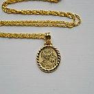 Medalik pozłacany Matka Boska Częstochowska
