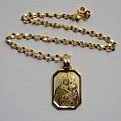 Medalik pozłacany Matka Boska Szkaplerzna